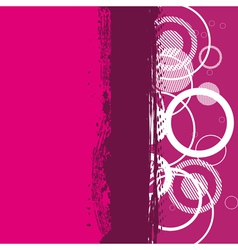 abstract grunge pink banner vector image
