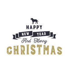 christmas typography quote design happy new year vector image