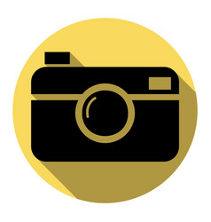 digital photo camera sign flat black icon vector image