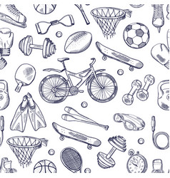 doodles hand drawn seamless pattern of vector image vector image