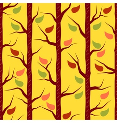 Fall trees with colorful leaves vector image vector image