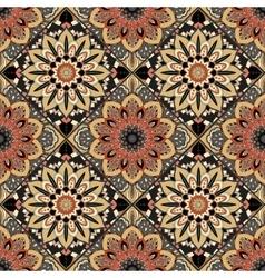 Flower Pattern Boho Brown vector image