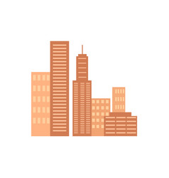 icons of several skyscrapers vector image vector image