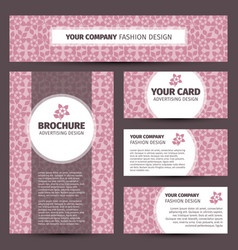 pink floral pattern corporate identity design vector image vector image