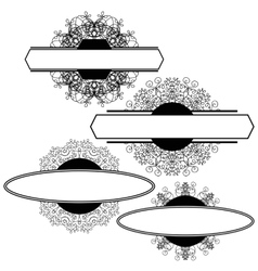 Set of Different Flourishes Isolated vector image