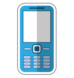 cartoon mobile phone call technology vector image vector image