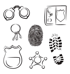 Investigation icons vector image