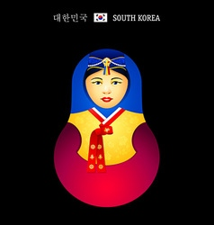 Matryoshka Korean girl vector image