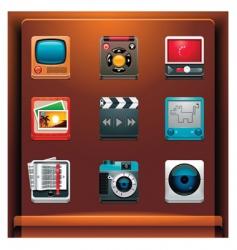 multimedia vector image vector image