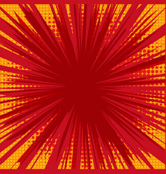 radial background with comic book speed lines vector image