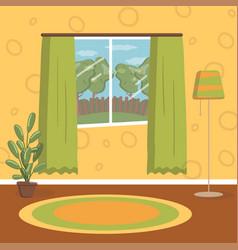 retro living room vintage cozy home interior vector image