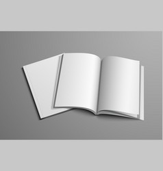 a realistic layout of the brochure for the vector image