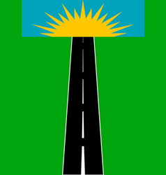 A road going beyond sunny horizon vector