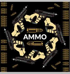 Aiming gun karma cycle death and life vector
