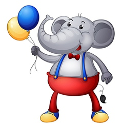 An elephant with balloons vector image