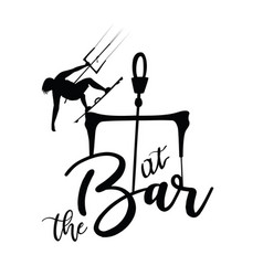 At the bar jumping kitesurfer print design vector
