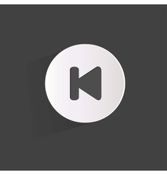Back track web icon vector