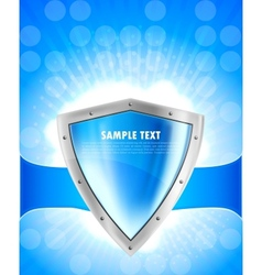 Background with shield vector image vector image