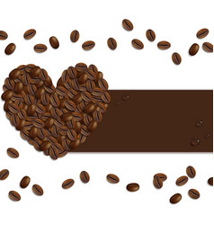 Banner from Coffee Beans vector image