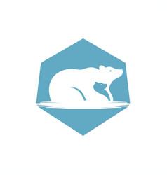 Bear family logo vector