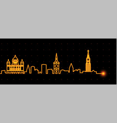 bern light streak skyline vector image