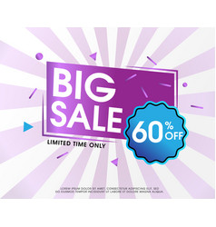 Big sale abstract design with background vector