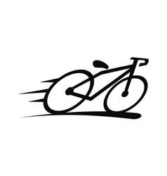 Bike logo design template vector