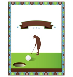 Blank Golf Flyer vector image