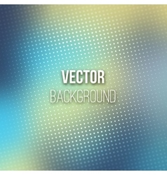 Blue Blurred Background With Halftone Effect vector image