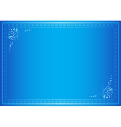 blue elegant frame with gradient vector image