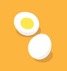 Boiled eggs with yolk cartoon vector