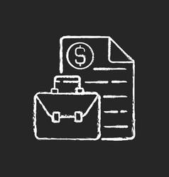 Business broker chalk white icon on black vector