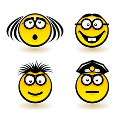 Cartoon faces vector image