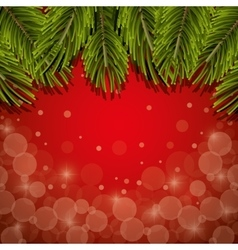 christmas pine leaves background vector image