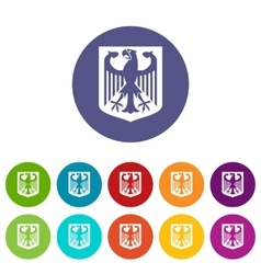 Coat of Arms of Germany set icons vector image