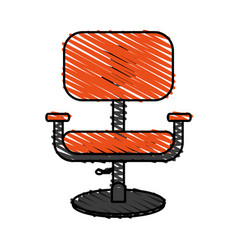 color crayon stripe cartoon comfortable desk chair vector image