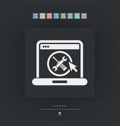 computer setting icon vector image