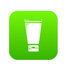 creme tube icon green vector image