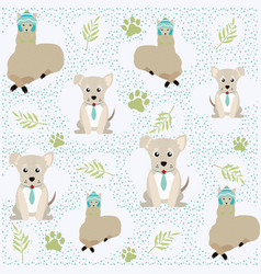 Cute animals pattern background vector
