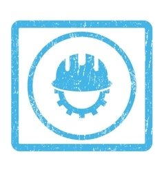 Development Hardhat Icon Rubber Stamp vector