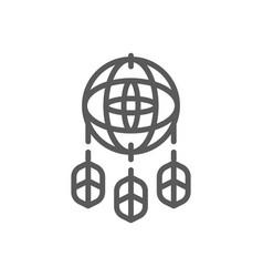 Dreamcatcher line icon vector