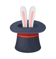 ears of a hare in a hat fociparty and parties vector image