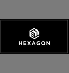 ek hexagon logo design inspiration vector image