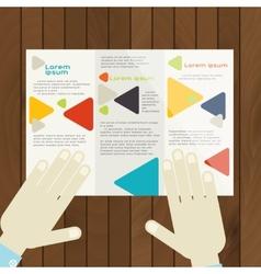 Flat Design Brochure Template vector image