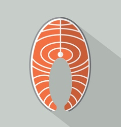 Flat Design Salmon Icon vector