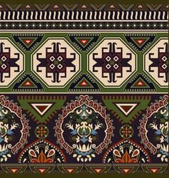 Folk ornamental seamless pattern geometric ethnic vector
