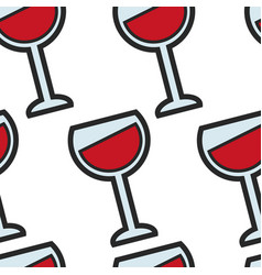 french wine alcohol drink grape beverage seamless vector image
