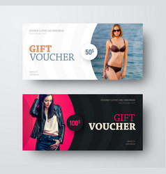 gift voucher design with a semicircle for a photo vector image