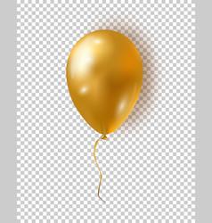 glossy golden balloon realistic air 3d balloon vector image