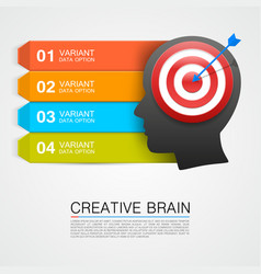 goals with target information art vector image